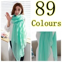Wholesale Cheap Pashmina Scarves Shawls - Free shipping 89 colours candy colour Plain cotton Scarf Viscose Fashion shawl Muslim Hijab Head Wrap Cheap Price Hot Sale New