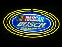 """Wholesale Busch Signs - Busch NASCAR (printed) Oval Neon Sign Custom Handmade Real Glass Tube Store Sport Bar Club Pub Racing Games Display Neon Signs 19""""x15"""""""