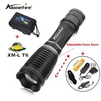 Wholesale Rechargeable Flashlight Mode - 100% Authentic E007 CREE XM-L T6 2000Lm 5 Mode rechargeable LED CREE Flashlight Torch+1x18650 Battery charger car charger Flashlight Holster