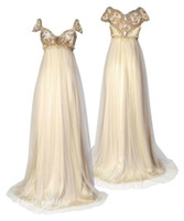 inspirar boda al por mayor-1800 Vestidos de novia de estilo victoriano Regency Inspirado Vintage Descuento Elegante Una línea Formal Vestidos largos de novia