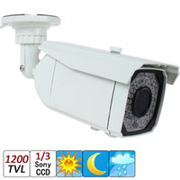 "Wholesale Super Effio - 1 3"" Sony Super HAD CCD II + Effio-E DSP 1200TVL 66 IR LEDs Weatherproof Infrared Varifocal CCTV Camera with OSD Menu Function"
