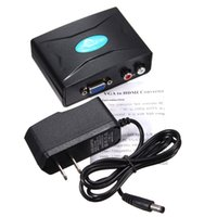 Con US Plug 1080P HD Video VGA MINI Audio VGA a HDMI HD Video Converter HDTV Adattatore Box per DVD PC Laptop