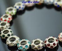 Wholesale Big Hole Crystal Bead - new style can mix color big hole sdfwe spacer Wheel Beads Crystal European Bead Bracelet Fit bracelet Rhinestone Loose jewelry making good
