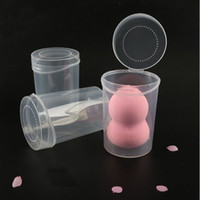 boncuk kapları toptan satış-Plastik Şeffaf Kozmetik Puff Sünger Yanlış Kirpik Boş Kutu Konteyner Için Boncuk Organizatör Vaka Makyaj Araçları