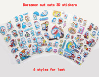 Wholesale Toys Wholesale Dora - Doraemon Waterpoo 3D Stickers Dora A dream cute hot Home Decals Children Kids Toys Kindergarten gifts Book Stickers Paster factory wholesell