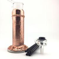 Wholesale brass processing - copper-plating process glass bong, crooks glass bong, 5 arm prec, bubbler