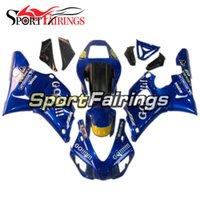 Kits Yamaha R1 1998 Pas Cher-Injection Plastics Pour Yamaha YZF1000 YZF R1 98 99 1998 - 1999 ABS Carénages Moteur Full Fairing Kit Cowlings Blue Yellow