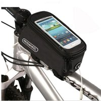Wholesale 4 quot quot quot Cycling Bike Bicycle Bags Panniers Frame Front Tube Bag For Cell Phone MTB Bike Touch Screen Bag