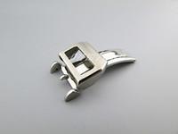 relojes sin logos al por mayor-Cierre de reloj de acero inoxidable 316L Hebilla de reloj de despliegue cepillado de 18 mm para IWC Reloj de pulsera grande Banda de reloj (sin logotipo)