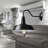 ingrosso stili di fienile-Lampada da parete applique rustica stile vintage retrò semplice età vintage o esterna