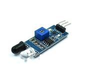 Wholesale Infrared Distance Sensors - 5pcs Infrared Barrie Module Obstacle Avoidance Car Sensor Module Adjustable Distance