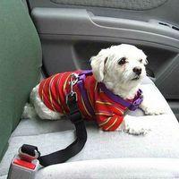 Wholesale Purple Restraints - 150pcs Adjustable Pet Cat Dog Car Safety Belt Dog Collars Pet Restraint Lead Leash Car Safety Harness ZA0296