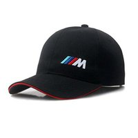 Wholesale bmw letters - Brand Designer 100% Cotton M Power Logo Adjustable Embroidery Snapback BMW Car Baseball Hat Unisex Racing Baseball Cap