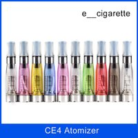 Wholesale Ems Ego - DHL+EMS High quality colorful CE4 atomizer Electronic Cigarette e cigarette atomizer 1.6ml ego t E-cigarette Clear clearomizer