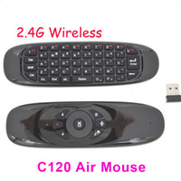 C120 2,4 GHz Wireless-Tastatur-Gyroskop Fernbedienung T10 MINI Fly Air Mouse QWERTZ-Tastatur-Maus für Android TV Box Mini-PC 20pcs