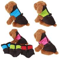 ingrosso abbigliamento sportivo-Piumini per il tempo libero Inverno Caldo vestiti per cani Pet Vest impermeabile facile da pulire Puppy Apparel For Outdoor 16 5hr B