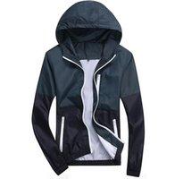 Wholesale Stylish Sports Jackets - 2016 New Fashion Stylish Fashion High Quality Sport Jacket Coats Men Casual Hooded Outdoor Jacket Men Thin Windbreaker Zipper Coats
