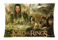 Wholesale lord rings print - 2pcs Custom Lord of the Rings Pattern Zippered Cotton Polyester Pillow Case 20x30 (Twin sides)
