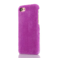 Wholesale fur cell phone cases for sale – best Fashion Fuzzy Soft Fur Hair Hard Case For iphone I7 Iphone7 S Plus Hybrid PC Plastic Colorful Furry Cell Phone Skin Cover