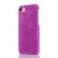 cajas del teléfono celular de piel al por mayor-Moda Fuzzy Soft Fur pelo duro estuche para iphone 7 I7 Iphone7 6 6S 4.7 Plus híbrido PC plástico colorido peludo teléfono celular cubierta de la piel 350pcs