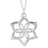 Wholesale Galadriel Silver - Wholesale-the Elves Galadriel Queen necklace fashion flower silver pendant for men and women wholesale