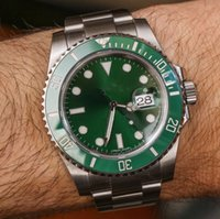 Wholesale Stainless Steel Ceramic Bezel - luxury Super big 40mm Top AAA Sapphire Hulk green 50th anniversary Ceramic bezel limited 116400GV automatic mechanical Mens Watch Watches