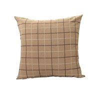 Wholesale Home Textile Free Shipping - Brand home textile cushion Multicolor optional antibacterial durable cushions fashion plaid pillow support custom free shipping