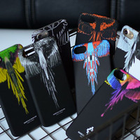 Wholesale Iphone Wings Cases Fashion Wholesale - Fashion Colorful Wings Phone Case for iphone 8plus Feather Prints Case for iPhone 8 7 Plus 6 6s Hard Back Cover