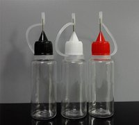 Wholesale E Liquid Smoke - 1000pcs 10ml PET empty e cig liquids plastic smoke oil dropper bottle pet eye Dropper Bottles 10 ml with metal needle cap