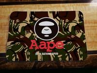 Wholesale European Decorative - Skull & Aape Entrance Rug Coral Fleece Door Mat Non-slip Floor Mat 2Size 40*60cm 50*80cm 10 color