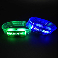 Wholesale Fashion Projections - 52pcs lot Fashion Electronic Light-up Flashing LED Bracelets for Night Rave Party KTV