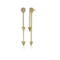 18K Gold Plated spike earring backs - Long And Short D Arrow Head Spiked Font Back Drop Earring Woman Concise Simple Geometry Alloy Earring Stud OEM ODM Mininum USD50
