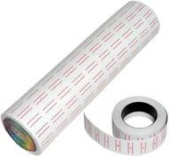 etiket etiketleme tabancası toptan satış-100 Rolls = 10 varil toptan Beyaz Kağıt Fiyat Etiketi Fiyat MX-5500 için Etiket Fiyatı Gun Labeller