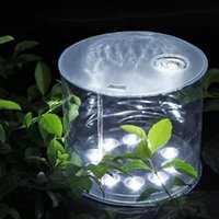 Transparent Inflatable Solar Light 10 LED Lantern imperméable à l'eau IPX6 Foldable Portable Picnic Camping Natation Tente Pêche