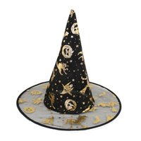 Wholesale Magic Props For Sale - Wholesale-Easter 2016 Hot Sale New Fashion Design Adult Womens Men Black Witch Hat For Halloween Prop Magic Costume Accessory Supplies