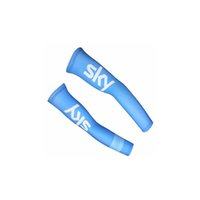 Wholesale Cycling Sky Arm Sleeves - New FDJ SKY 2017 pro team Bike Arm Warm Cycling Arm Warmers Bicycle Riding Arm Sleeves Outdoor Bike Bicycle Cover