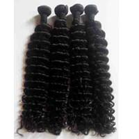 Wholesale Deep Wave China - Wholesale human hair weave china Deep Wave Brazilian Peruvian Malaysian virgin human Hair Weft 3pcs lot Natural Color Indian remy human Hair