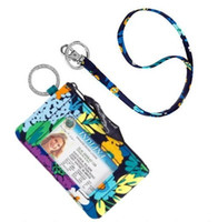 Wholesale Nwt Fashion - NWT VB flower Cotton Zip ID Case & Lanyard Card Holder Credit Card 100% real