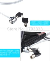 Wholesale pcs security systems - 200pcs lot LEAO Laptop PC Notebook Security Cable Chain Key Lock Free Shipping