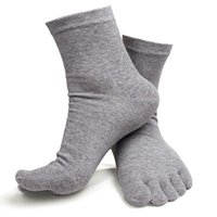 Wholesale Pure Cotton Socks Toes - Wholesale-Unisex Men Women A Pair Of Warm Summer Socks Sports Five Finger Pure Cotton Socks Toe Basketball Sock