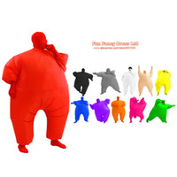 Wholesale Blow Up Christmas - cosplay Air Blown Adult Inflatable Chub Suit Full Body Costume Fat Air Suit Blow Up Jumpsuits Fancy Dress Halloween Christmas Party