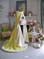 Wholesale Ladies Hooded Cloaks - Chirstmas Design Long Length Ladies Winter Cloak Custom Made Hooded Good Quality Exclusive Faux Fur Bridal Cape