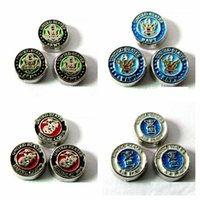 Wholesale Beads Usa - 50PCS Mix style & Color new USA marine corps floating charm military floating charms for glass floating locket