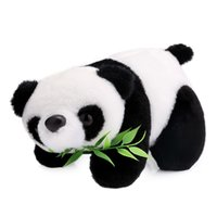 Wholesale plush toys china - Cute Lovely Panda Plush Toy Baby Stuffed Lovely Panda Plush Doll Toy The Best Birthday Christmas Gifts For Kids Play 18cm Toys