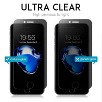 Wholesale iphone 5.5 screen protector anti glare resale online - For iphone XR XS XS MAX plus plus P S SE H Privacy tempered glass Anti spy screen protector NO RETAIL PACKAGE
