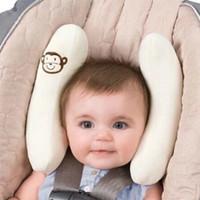 cojín del cuello del bebé al por mayor-Almohada útil para el descanso del cuello de la cabeza del cojín para coche / cochecito de bebé, asientos cómodos del respaldo del cuello del reposacabezas, para la protección de los niños de los niños