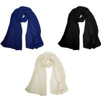 Wholesale Lightweight Fashion Scarves - New Arrival Angel-fashions Women Girls Soft Lightweight Chiffon Summer Shawl Wrap Scarf Stole Fashion Accessories