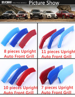 Wholesale Plastic Grilles - Car Styling For BMW 3 4 5 Series X4 X5 X6 F10 F35 ABS Front Bumper Grille Decoration Trim Strip Motorsport 3D Cover