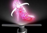 ledli bar göstergeleri toptan satış-Yeni 3D Holografik Görüntüleme Reklam Makinesi LED Projeksiyon Dönen Fan Gözlük-ücretsiz 3D Ekran Etkisi Çekin Gözküresi 50 cm DHL Tarafından