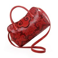 Wholesale Women Handbags Chinese - Toposhine Embossed Flowers Ladies Bags Vintage Fashion Women Bags Chinese Style PU Leather Women Handbag Women Shoulder Bag 1070